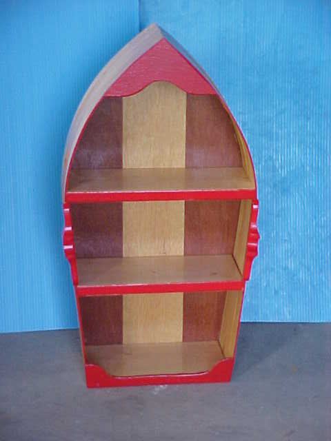 how to build a wooden boat shelf